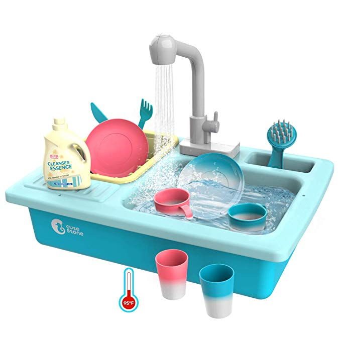 CUTE STONE Color Changing Kitchen Sink Toys, Children Heat ...
