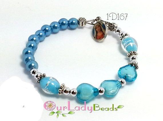 Girl's One-Decade Rosary Bracelet Teen Rosary by OURLADYBeads