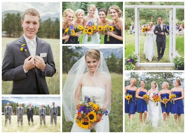 Obsessed with this vibrant wedding by #MaheuxStudios http://www.aisleperfect.com/2013/11/blue-and-yellow-estes-park-wedding-by.html