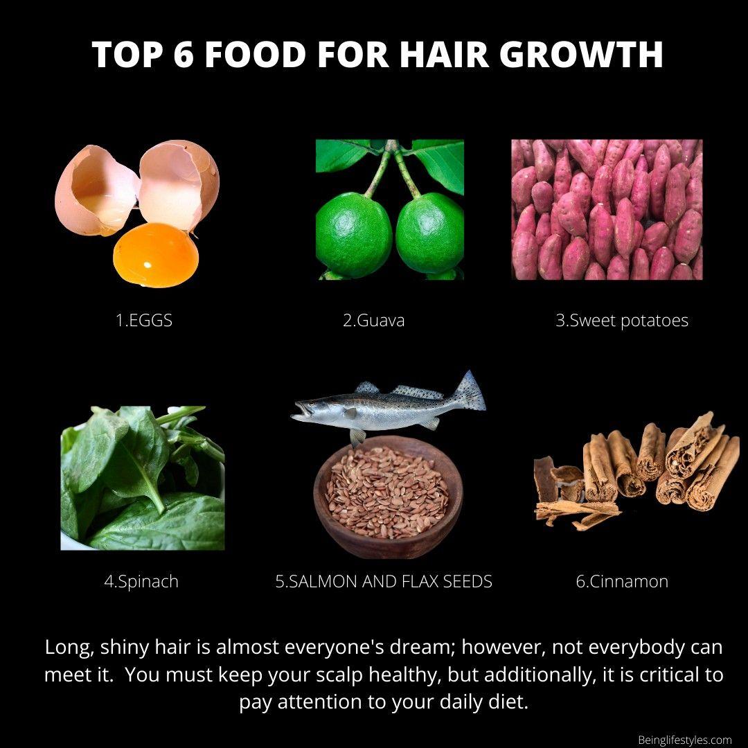 Top 6 Foods For Hair Growth Hair Food Hair Growth Faster Hair Care Regime