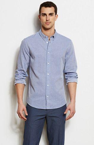 Diamond Jacquard Dress Shirt - Shirts - Sale - Armani Exchange