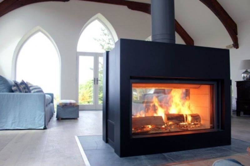 Double Sided Fireplace Designs In The Living Room Freestanding