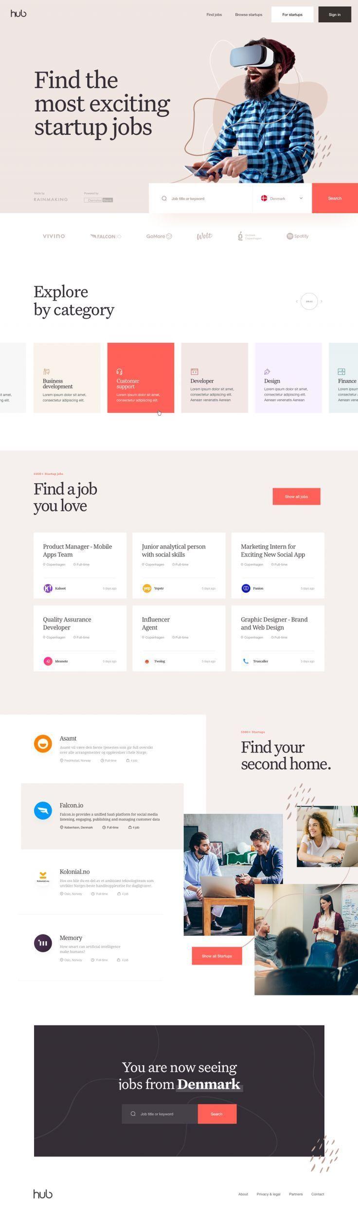 Hub Jobs In 2020 User Interface Design Interface Design Web Design