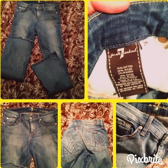 7 for all man kind jeans 29x32 7's factory fade in great condition 7 for all Mankind Jeans Boot Cut