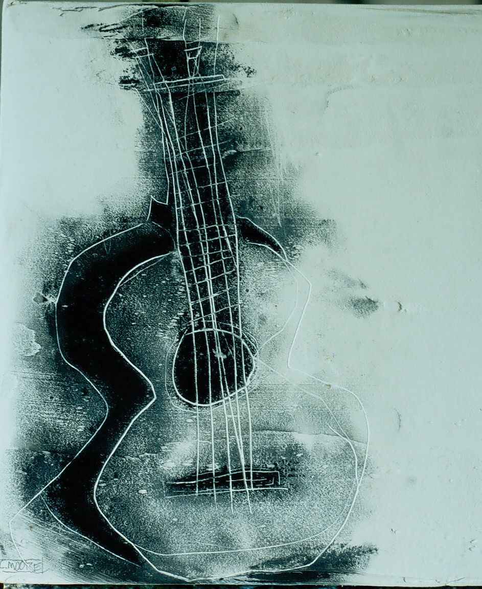 Images For > Guitar Paintings Canvas