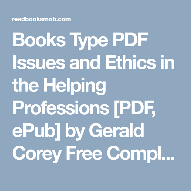 Books type pdf issues and ethics in the helping professions pdf books type pdf issues and ethics in the helping professions pdf epub by fandeluxe Images