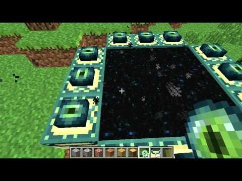 minecraft pe how to make end portal