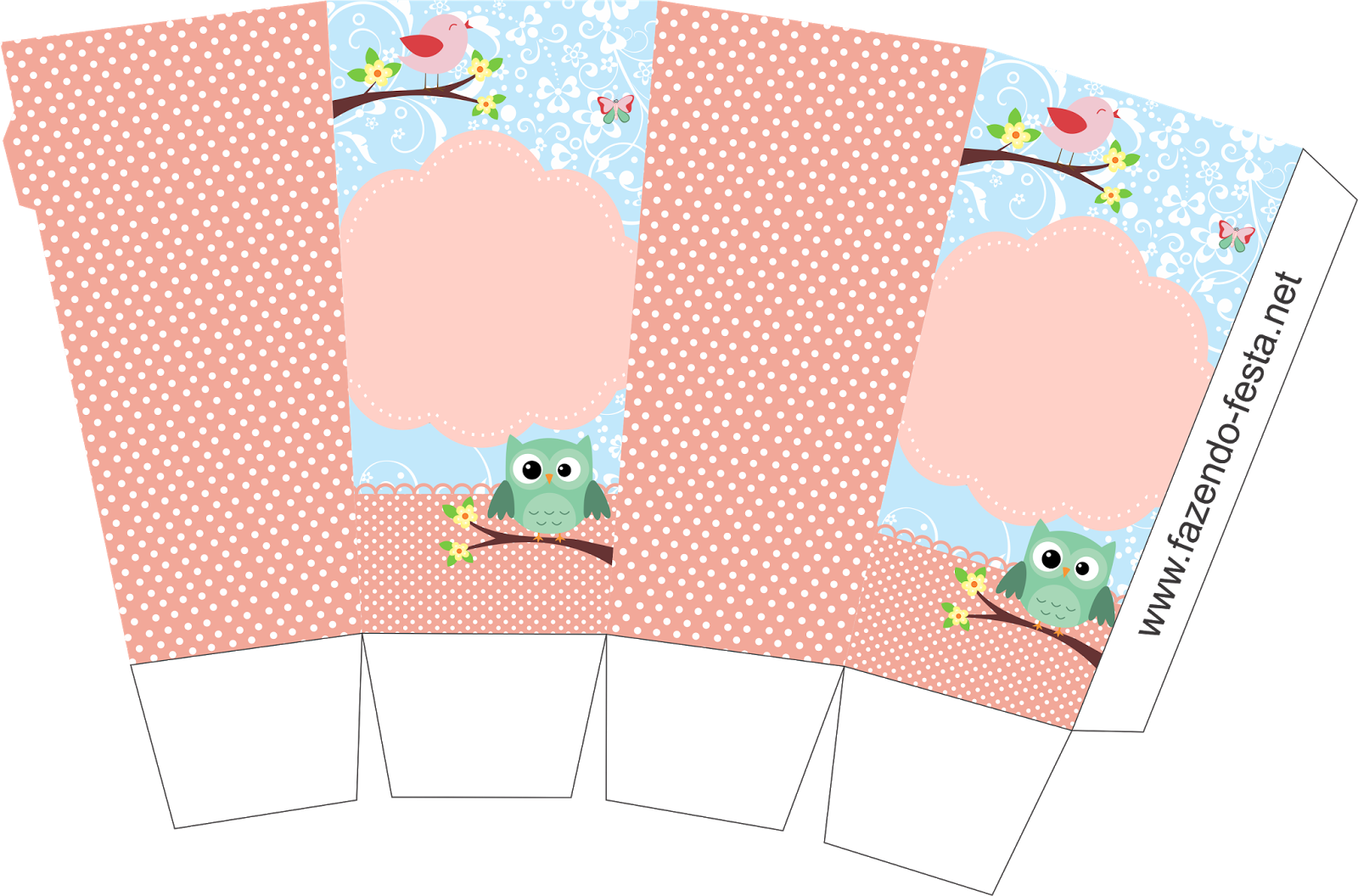 Cute Bird Template Printable Free Printable Popcorn Box