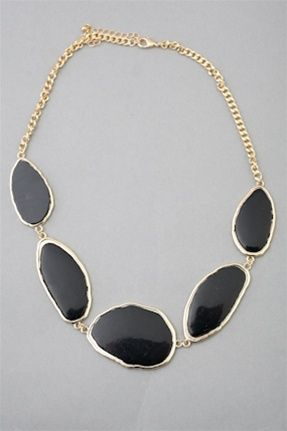 ABSTRACT STONE NECKLACE  $25