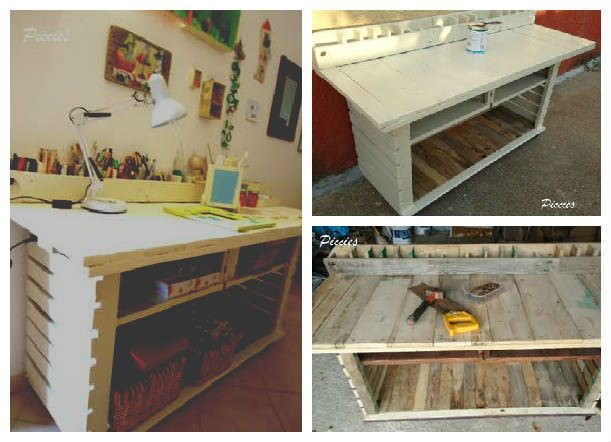 Pallet Workbench For My Craft Room | Beginner woodworking ...