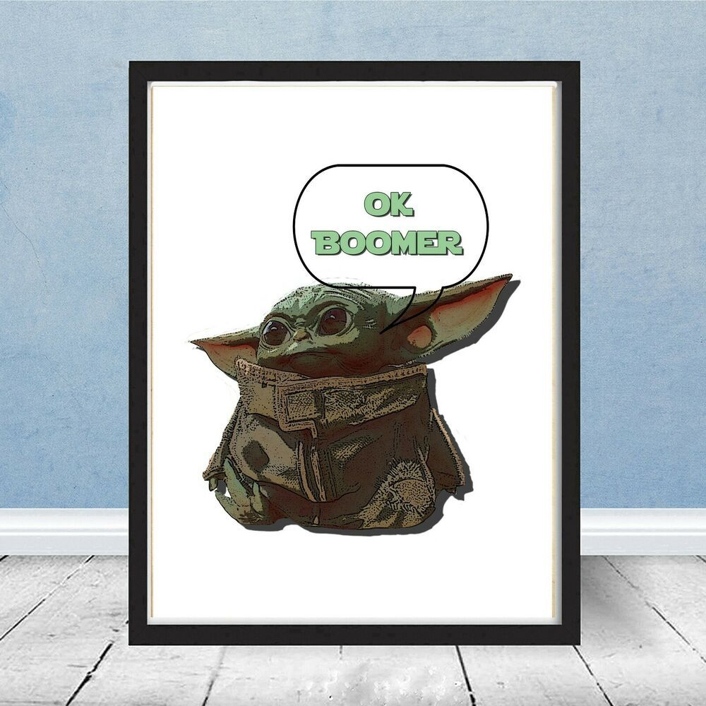 Baby Yoda The Mandalorian Star Wars Ok Boomer Meme Jedi Christmas Gift Disney Starwars Star Wars Mugs Yoda Halloween Star Wars Yoda