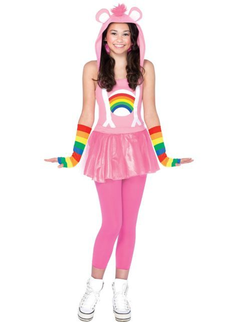 Teen Girls Cheer Bear Costume - Care Bears - Party City  sc 1 st  Pinterest & Teen Girls Cheer Bear Costume - Care Bears - Party City | halloween ...