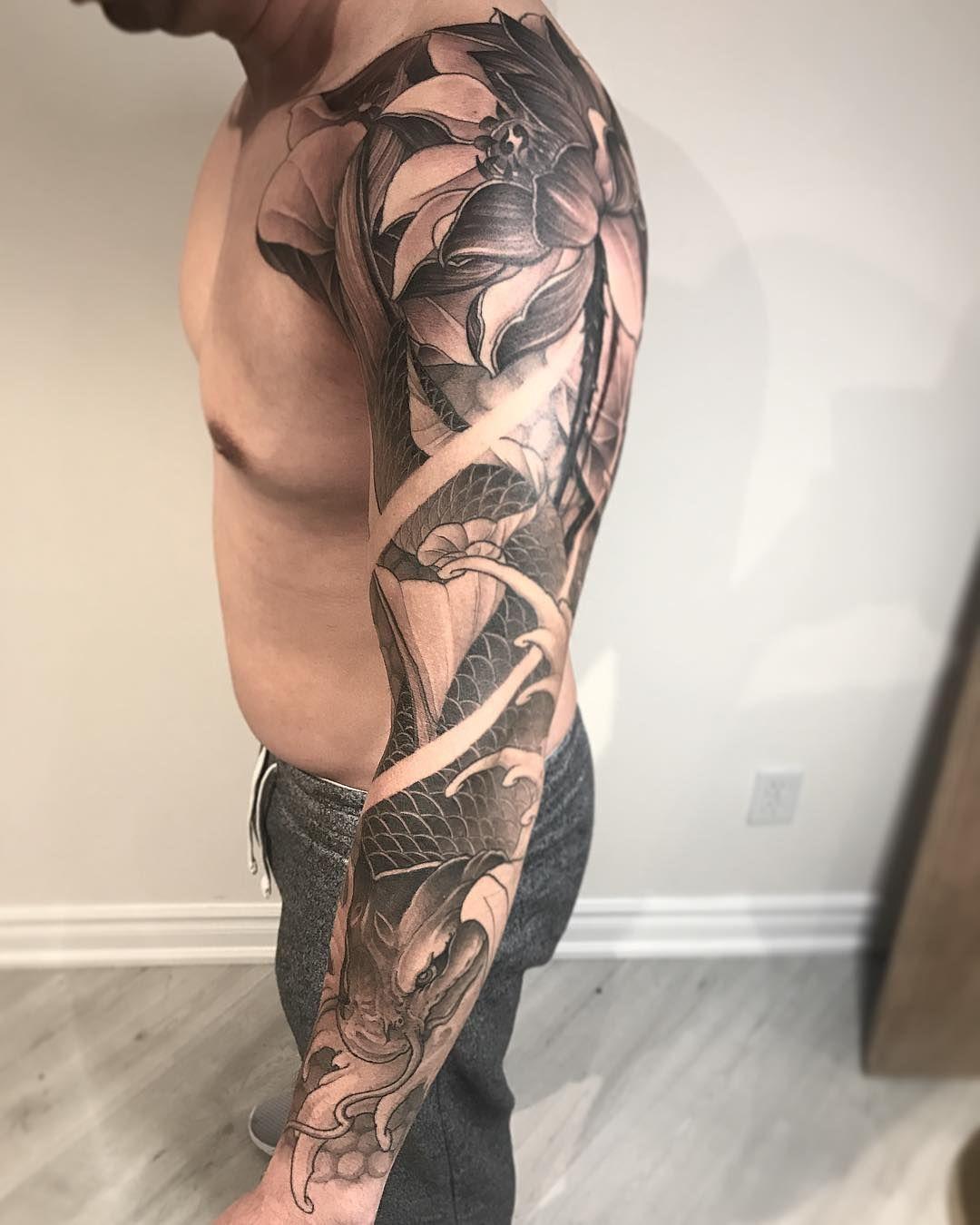 79 Koi Fish Tattoos Ideas August 2020 Sleeve Tattoos Japanese Tattoo Koi Tattoo Sleeve
