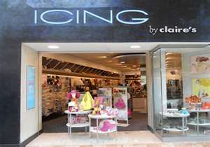 icing store it s like claires in sense of merchandise it s really
