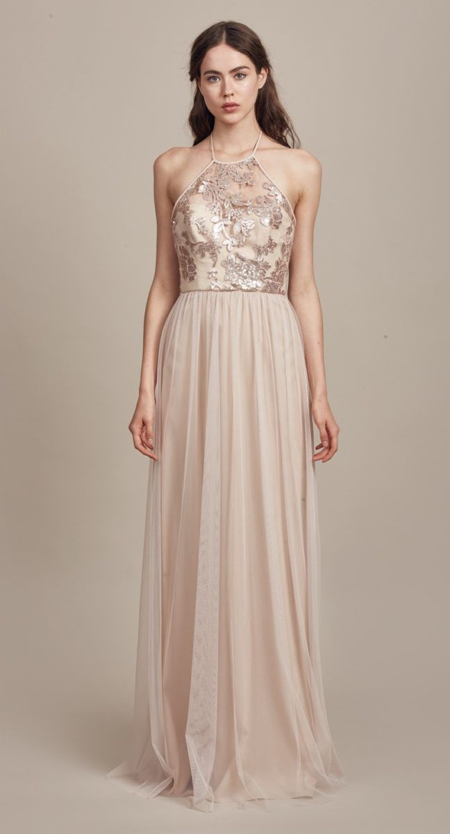 Sequin Lace Bridesmaid Dress Sheridan By Am In Fawn