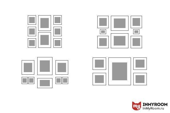 Как развешать фото схемы
