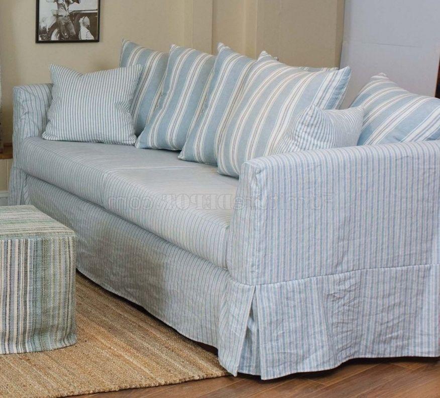 Blue And White Striped Sofa Slipcover