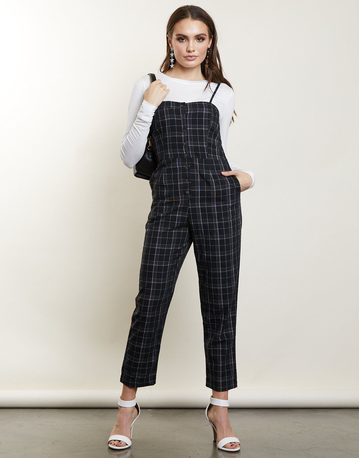 a045e2de76a8 New Roads Plaid Jumpsuit - black jumpsuit - casual jumpsuit – 2020AVE  jumpsuits for juniors