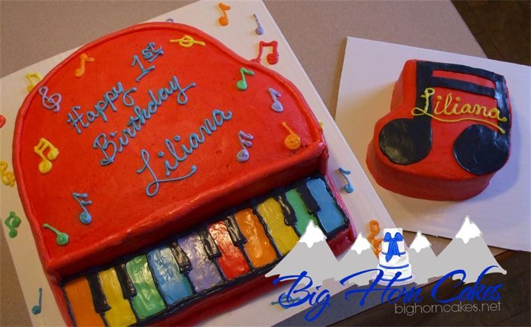 Music Themed First Birthday Cake Set With Musical Note Smash Based On A Favorite Piano Toy Bighorncakes Sheridanwy