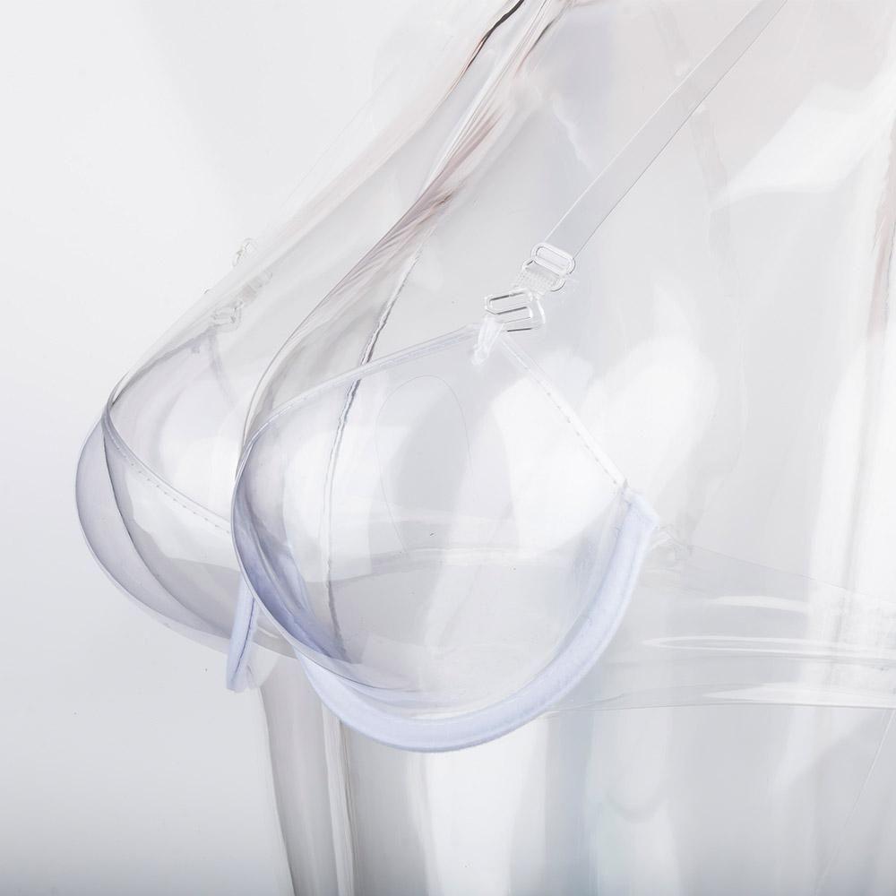 7e6ec24696 New Arrival Transparent Clear Push Up Bra Strap Invisible Bras Women  Underwire 3 4 Cup Invisible thin strap plastic sexy bra