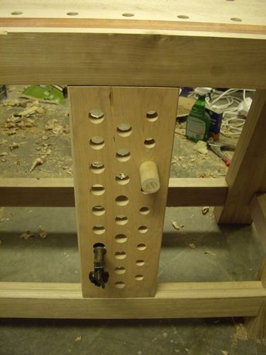 Rows Of 1 Holes In Deadman For Stanley 203 Clamp Vise Workbench