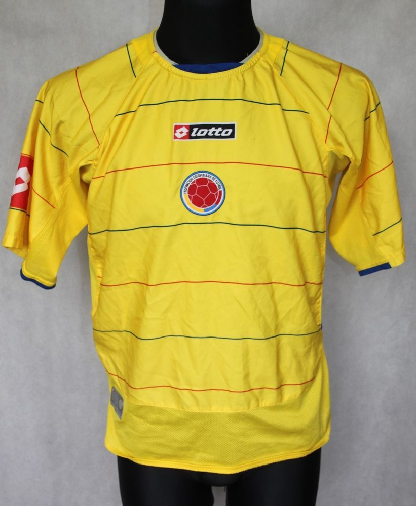 377200a6697 COLOMBIA NATIONAL TEAM HOME SHIRT 2006 LOTTO WORLD CUP size S 36/38 #Lotto