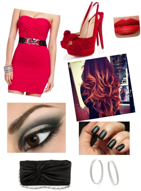 """office Christmas party"" by nicole-terceira ❤ liked on Polyvore"