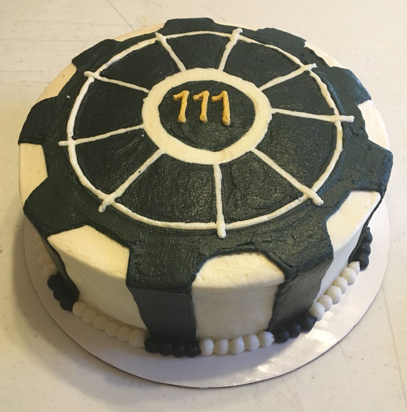 Fallout Vault Door fallout vault door cake | buttercreams: cakes for every occasion
