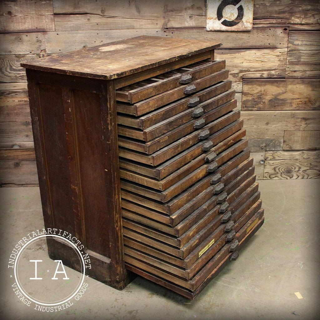 Hamilton 50 Drawer Antique Wood Flat File - be still, my heart ...
