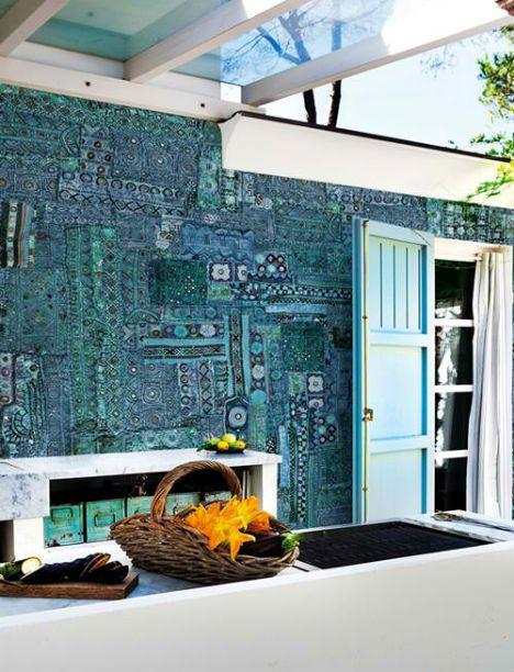 Italian Company Wall And Deco Tribal Pop Outdoor Wallpaper