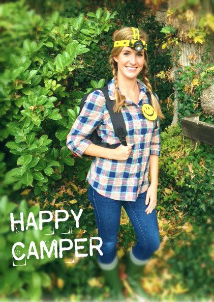 happy camper easy and comfy halloween costume idea halloween easycostume cheapcostume