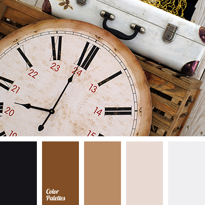 simple color palette of black, tan and cream
