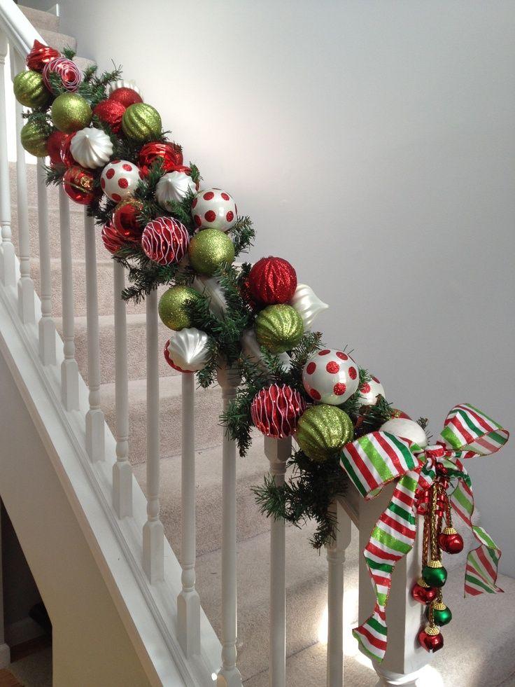 pinterest christmas staircase