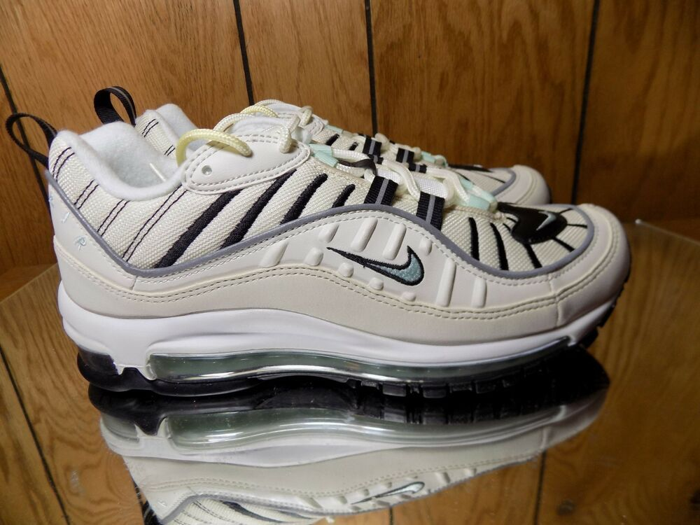 Women's Air Max 98 FOSSIL SAIL IGLOO OFF WHITE BLACK 97