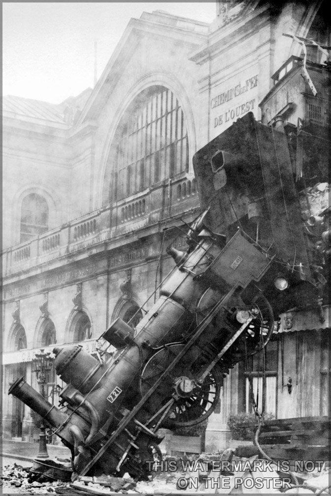 Train Wreck at Montparnasse, c.1895