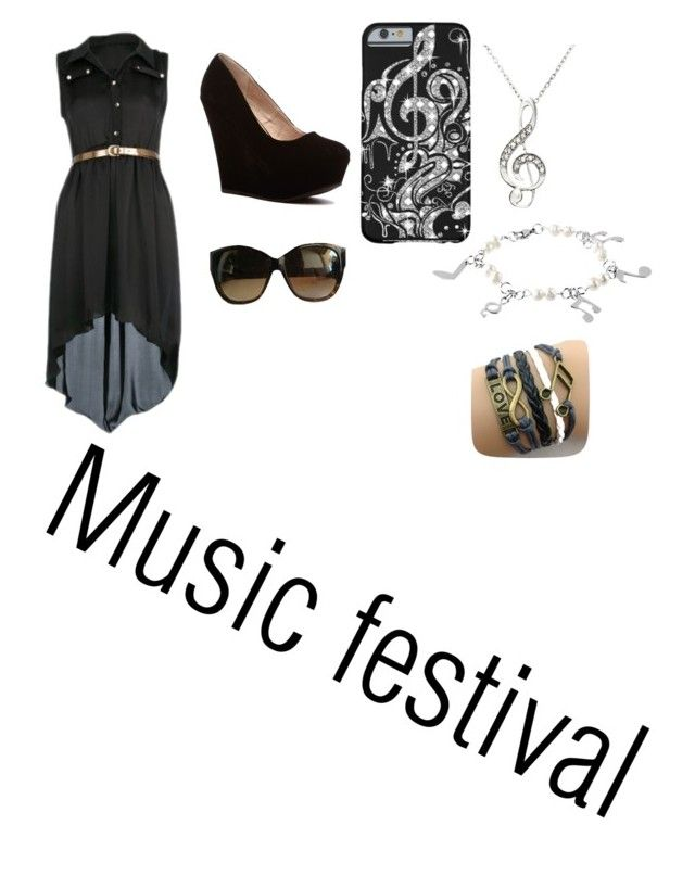"""""""Music Festival"""" by oreogodfrey ❤ liked on Polyvore featuring West Coast Jewelry and Marc Jacobs"""