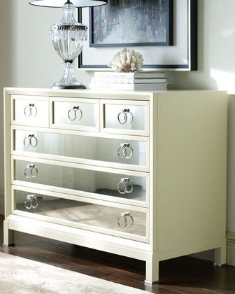 Vanguard   Milk Mirrored Chest   Traditional   Dressers Chests And Bedroom  Armoires   Horchow
