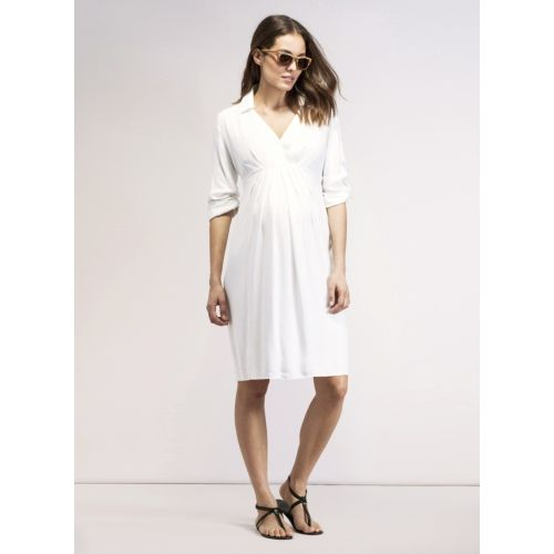 9a59766ab2d93 Pianna Maternity Shirt Dress - Off White | Maternity clothes ...