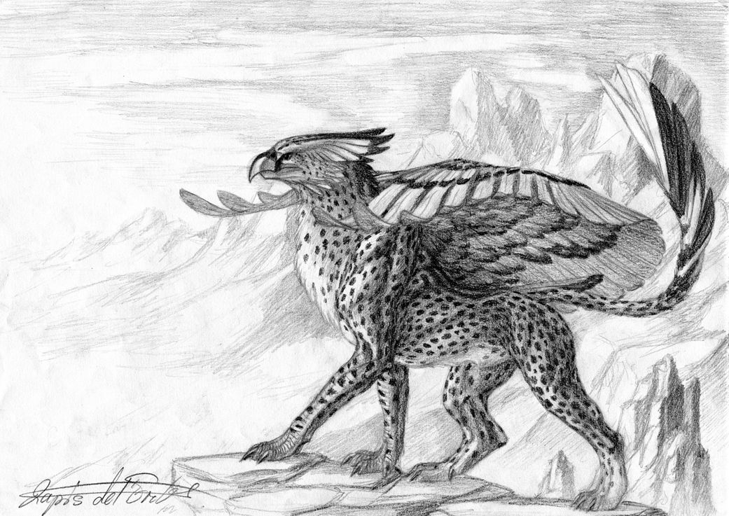 Winged Elegance A Cheetah Gryphon By Lapis Lazuri Deviantart Com