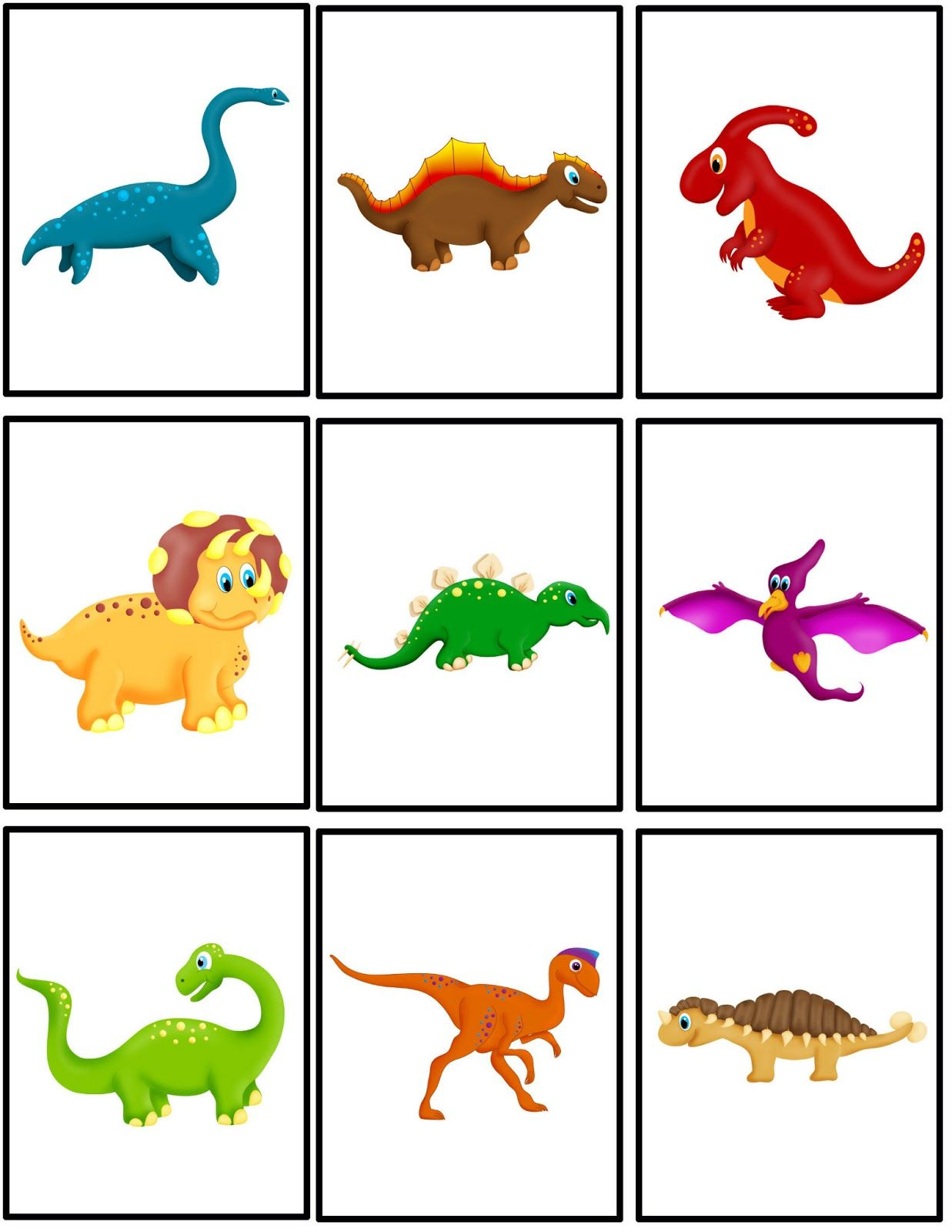 Preschool Powol Packets Free Dinosaur Matching Packet