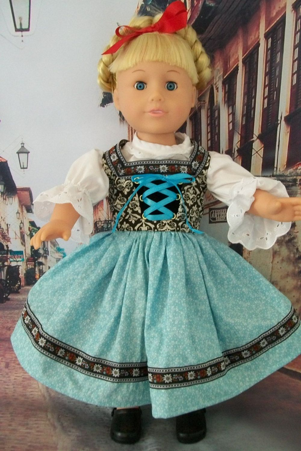 American Girl Doll Clothes. European Style Dirndl Outfit. $25.00 ...