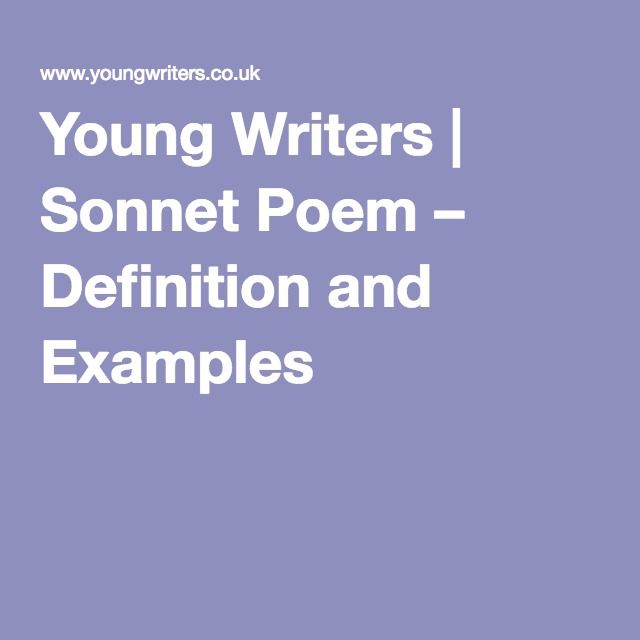 Young Writers Sonnet Poem Definition And Examples Civil War