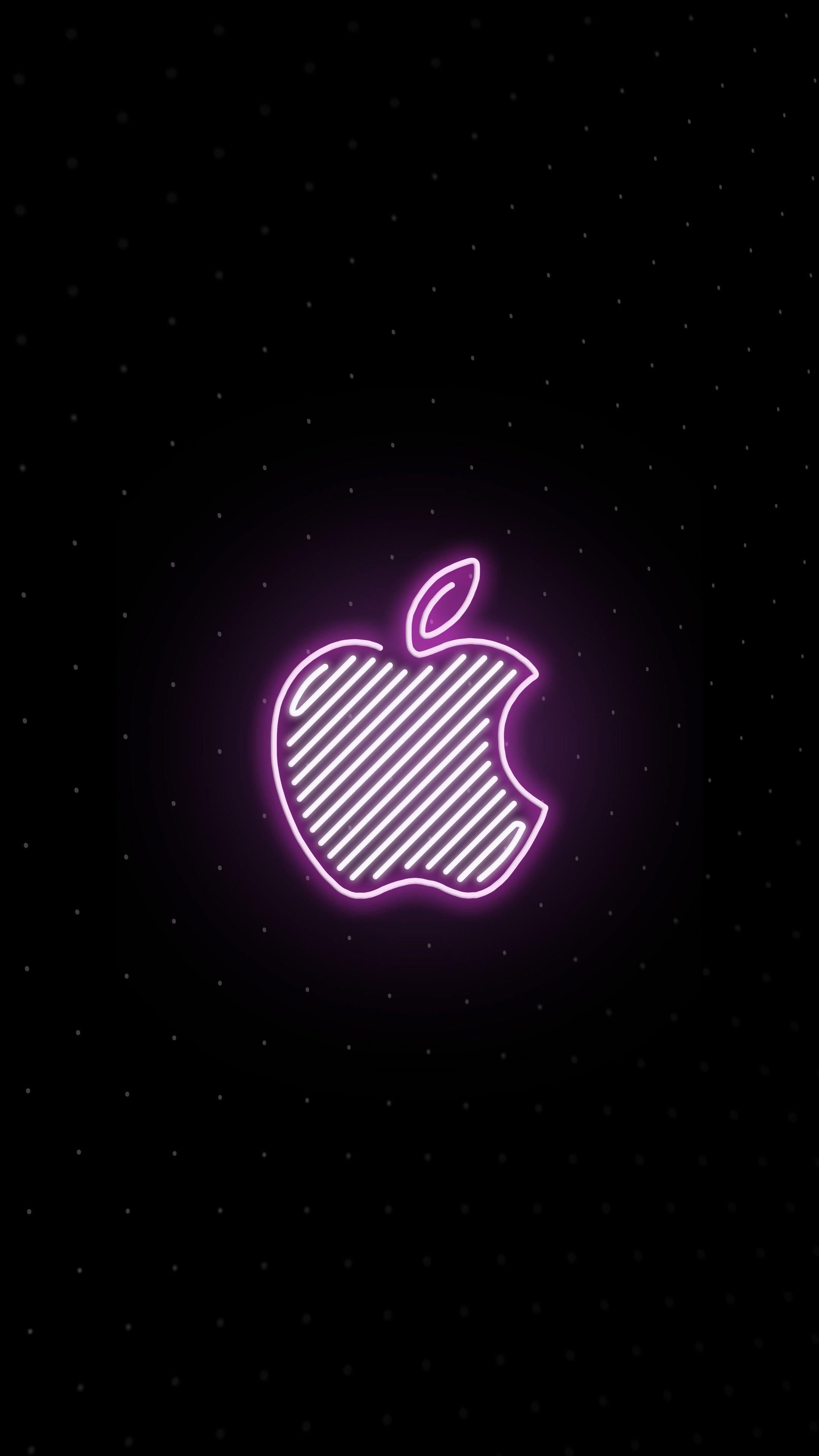 ネオンのアップル シンプルでおしゃれなiphone Xs壁紙 Iphonex スマホ壁紙 待受画像ギャラリー アップルの壁紙 壁紙 Android スマホ壁紙
