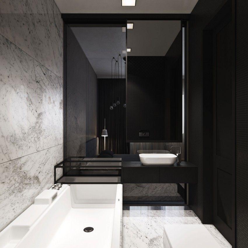 Masculine Master Baths: Townhouse By Igor Sirotov Architect