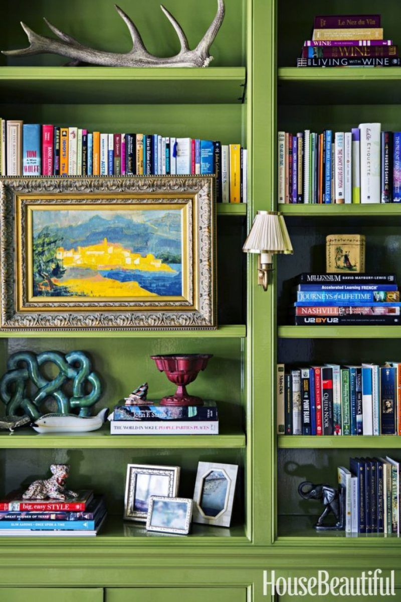 Chalk Painted Bookcase Painting Bookcase Bookcase Makeover Painted Bookshelves