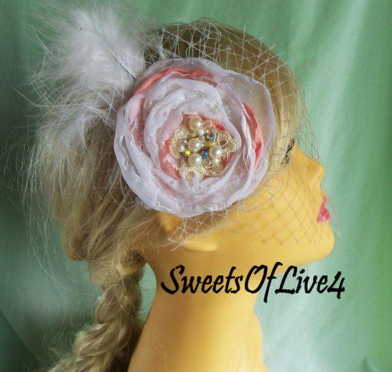 Свадебные волосы цветок Люкс волосы цветок Свадьба по SweetsOfLife4