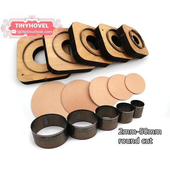 3fa751aca 2mm-50mm(dia) Steel Rule Die Cut Circle Cutting Mold for Leather, Steel  Circle Punch -Circle Cutter