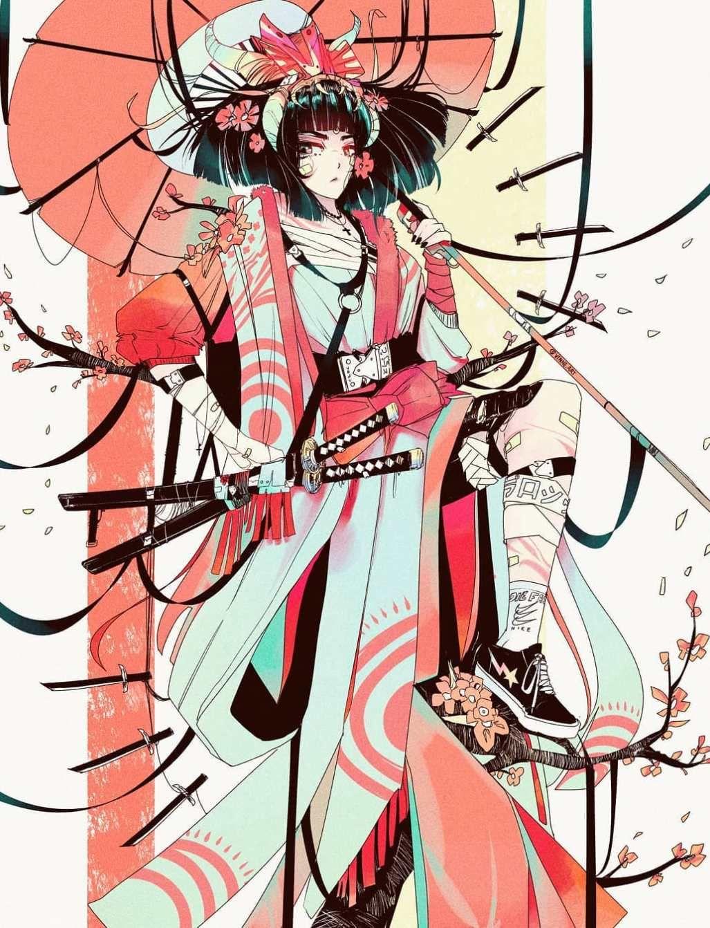Cyberpunk Wonderland, a look at Vinne in 2020 Anime art