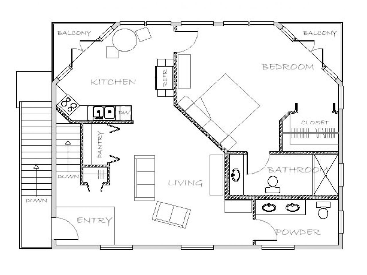 Erdgeschoss haus front design small motherinlaw floor plans  mother in law house plans with