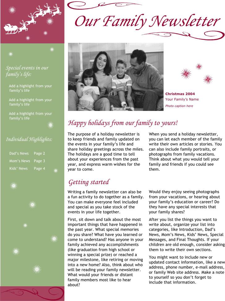 Christmas Newsletter 1 Season S Greetings Christmas Cards
